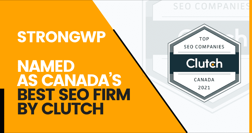 strongwp named as canada's best seo firm by clutch